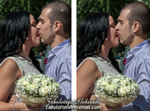 ретушування фотографії, ретуш весільної фотографії, ретушована фотографія до та після