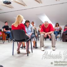 репортажна фотографія з тренінгу психолога Максима Чечота, моделювання ситуації на тренінгу
