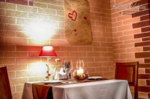 interior restaurant, table for two