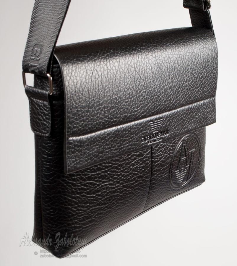 предметная фотография кожаных изделий, сумка Армани